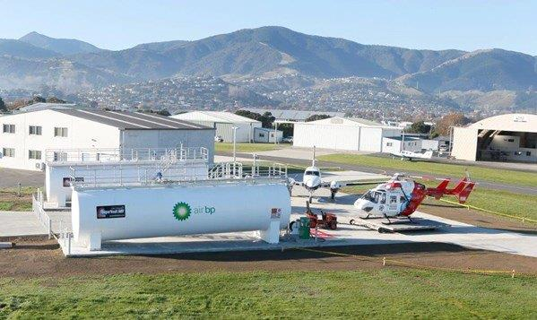 Fuel tank installation at airport